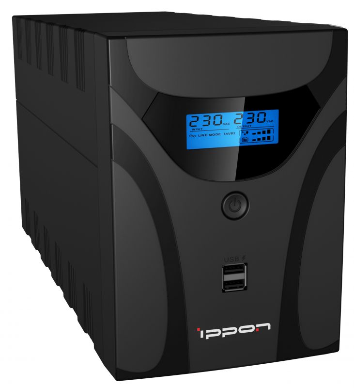 Источник БП Ippon Smart Power Pro II 1200 720Вт 1200ВА черный