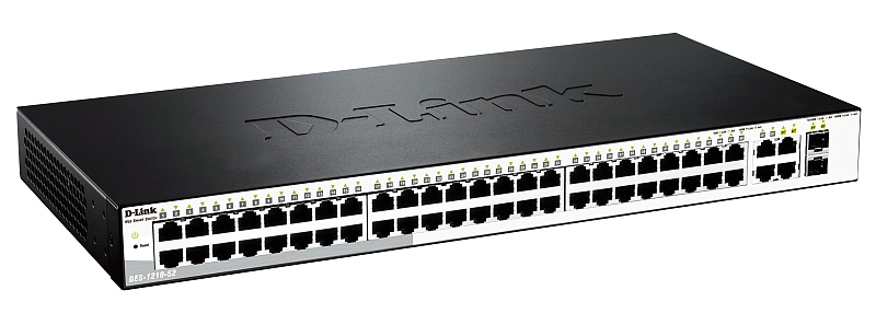 Коммутатор 48TP D-LINK DES-1210-52/ME/C1A Managed Switch with 48 10/100Base-TX + 4 Combo of 10/100/1000BASE-T/SFP