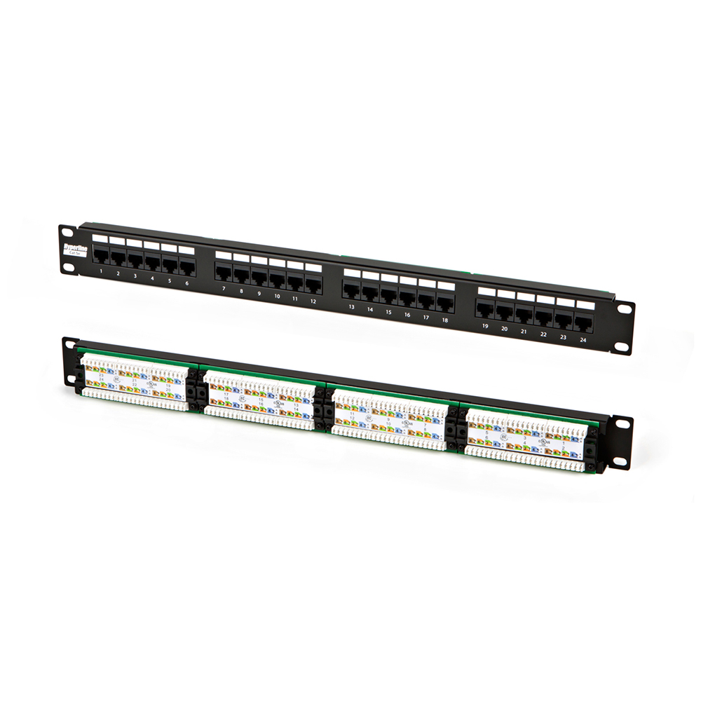 "Патч-панель 19"" 24xRJ45, 1U, cat.5e, Lan Union (ЛЮ-ПКС-5е.24.1Р)"