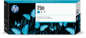 Картридж Цв. HP №730 DesignJet T1700 300-ml Cyan Ink Cartridge (P2V68A)