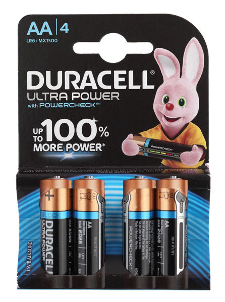 Элемент питания AA DURACELL MX1500 LR6 4BL Ultra Power  4шт