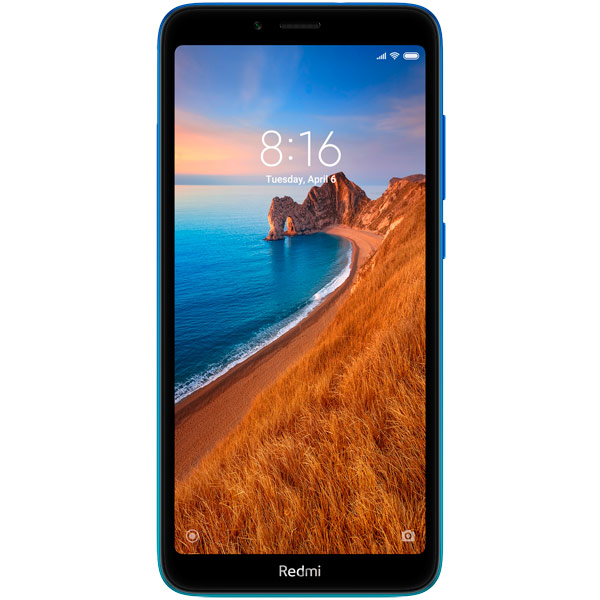 "Смартфон Xiaomi Redmi 7A 32Gb 2Gb синий 3G 4G 2Sim 5.45"" IPS 720x1440 And9.0 12Mpix 802.11 b/g/n GP"