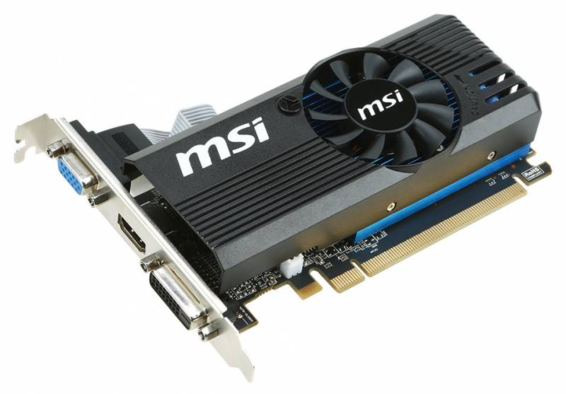 Видеокарта PCI-E 2Gb AMD R7 240 MSI 2GD3 LP 128b DDR3 780/1800 DVI/HDMI/CRT/HDCP RTL