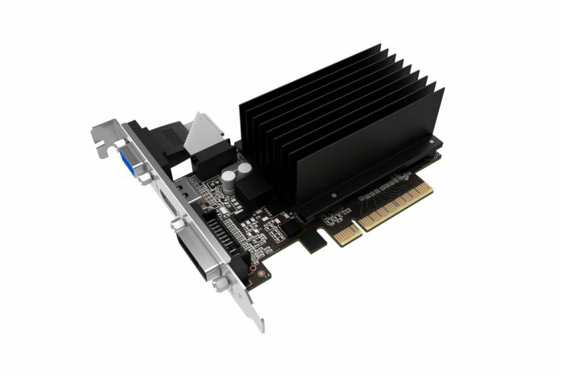Видеокарта PCI-E 2Gb GeForce GT710 Palit GDDR3/64-bit, PCI-Ex16 3.0, DVI, HDMI, VGA, 2-slot cooler, PA-GT710-2GD3H