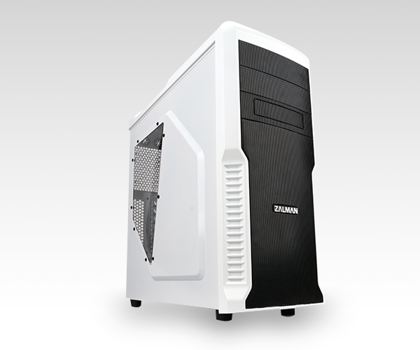 Корпус ZALMAN Z3 PLUS White Mid Tower, ATX, USB3.0, 120mm Fan x4, fan controller, видео карты до 360мм, SSD support, Arcilic side panel, black color