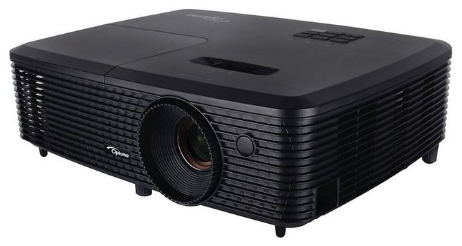 Проектор Optoma S321DLP, 3D Ready, SVGA(800*600), 3200 ANSI Lm, 22000:1/ 10000ч / 8000ч/5000(Education /Eco/bright)/+/- 40 vertical/ VGA IN x1/ Composite,USB(remote mouse)/ 29/30 dB/ 2.17kg