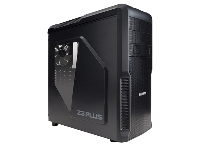 Корпус ZALMAN Z3 PLUS Black Mid Tower, ATX, USB3.0, 120mm Fan x4, fan controller, видео карты до 360мм, SSD support, Arcilic side panel, black
