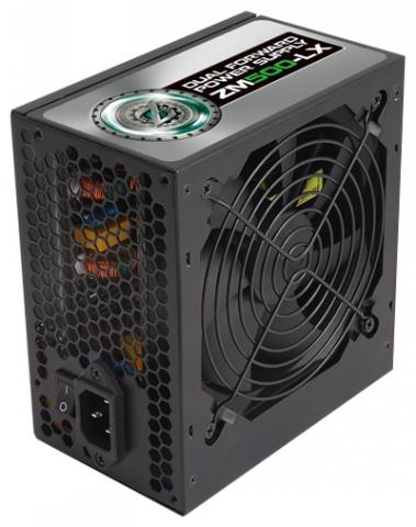 Блок питания 500Вт  ZALMAN (ZM500-LX) APFC, ATX 2.31, 120mm FAN, 4x HDD + 6x SATA + 2x PCIE 6pin, black, RTL