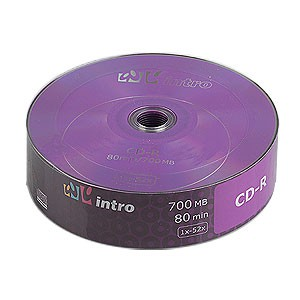 Диск CD-R 700Mb 52x Intro Shrink 25