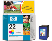 Картридж Цв. HP №22 DeskJet 3920/3940 /1410 (5ml) (C9352AE)