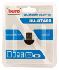 Адаптер Bluetooth USB Buro BU-BT40B Bluetooth 4.0+EDR class 1.5 20м черный
