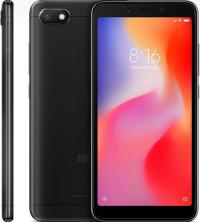 Смартфон Xiaomi Redmi 6A Black 5.45 1440x720, 2.0GHz, 4 Core, 2GB RAM, 16GB, up to 256GB flash, 13Mpix/5Mpix, 2 Sim, 2G, 3G, LTE, BT v4.2, Wi-Fi, GPS, Glonass, Micro-USB, 3000mAh, 145g, 147.5x71.5x8.3