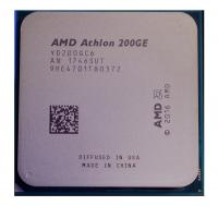 Процессор AMD AM4 Athlon 200GE BOX Radeon Vega Graphics <35W, 2C/4T, 3.2Gh(Max), 5MB(L2+L3), AM4> (YD200GC6FBBOX)