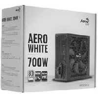 Блок питания 700Вт Aerocool AERO WHITE 80+ (24+4+4pin) APFC 120mm fan 5xSATA RTL
