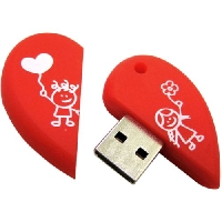 Флеш диск 16GB USB 2.0 Smart Buy series Сердце (SB16GBHeart)