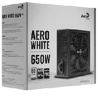 Блок питания 650Вт Aerocool AERO WHITE 80+ (24+4+4pin) APFC 120mm fan 5xSATA RTL