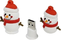 Флеш диск 8Gb USB 2.0 Smart Buy Wild series Снеговик (SB8GBSnowP)