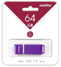 Флеш диск 64GB USB 2.0 Smart Buy Quartz series Violet (SB64GBQZ-V)