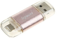 Флеш диск 128GB USB 3.0 Apacer AH190 Lightning Dual for iPhone/iPad rose gold    для Айфона