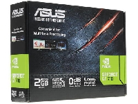 Видеокарта PCI-E 2Gb GeForce GT710 Asus GT710-SL-2GD5-DI GDDR5, 64 bit, HDMI, VGA, DVI, LP, radiator, Retail