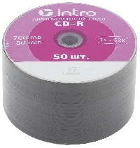 Диск CD-R 700Mb 52x Intro Shrink 50