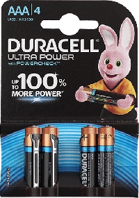 Элемент питания AAA DURACELL MN2400 LR03 4BL Ultra Power  4шт