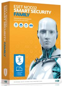 Программное обеспечение Антивирус Eset NOD32 Smart Security Family - лицензия на 5 пк на 1 год (NOD32-ESM-NS(BOX)-1-5)