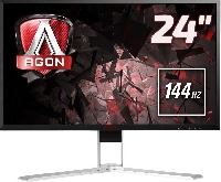 Монитор 23,8 AOC AGON AG241QX Black-Red с поворотом экрана (LED, 2560x1440, 144Hz, 1 ms, 170°/160°, 350 cd/m, 50M:1)