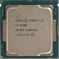 Процессор Soc-1151v2 Intel i3-8100 (3.60Ghz/6Mb/ 4 ядра/HD610)  (CM8068403377308 S R3N5 IN) OEM