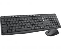 Клавиатура + мышь Logitech Wireless Combo MK235 серый/черный, интерфейс USB, Радио (920-007948 )