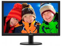 "Монитор 23,6"" Philips 243V5LAB (00/01) Glossy-Black, TN, LED, 1920x1080, 5ms, 16:9, M/M, 10M:1, 250 кд/м2, D-SUB, DVI."