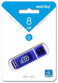 Флеш диск 8GB USB 3.0 Smartbuy Glossy series Dark Blue (SB8GBGS-DB)