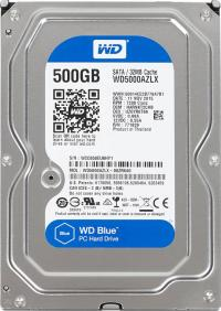 Жесткий диск SATA-III 500,0 Gb Western Digital WD5000AZLX Blue (7200rpm) 32Mb 3.5