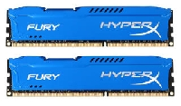 Память DIMM DDRIII 8Gb 1866MHz Kingston HX318C10FK2/8 CL9 DIMM (Kit of 2) HyperX FURY Blue Series
