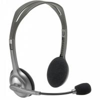 Наушники Logitech Portable Headset H110 (20-20000Hz, mic, 2x3.5mm jack, 1.8m)